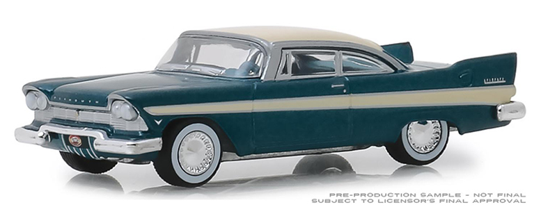 39010-C - Greenlight Diecast 1957 Plymouth Fury Busted Knuckle Garage Gas