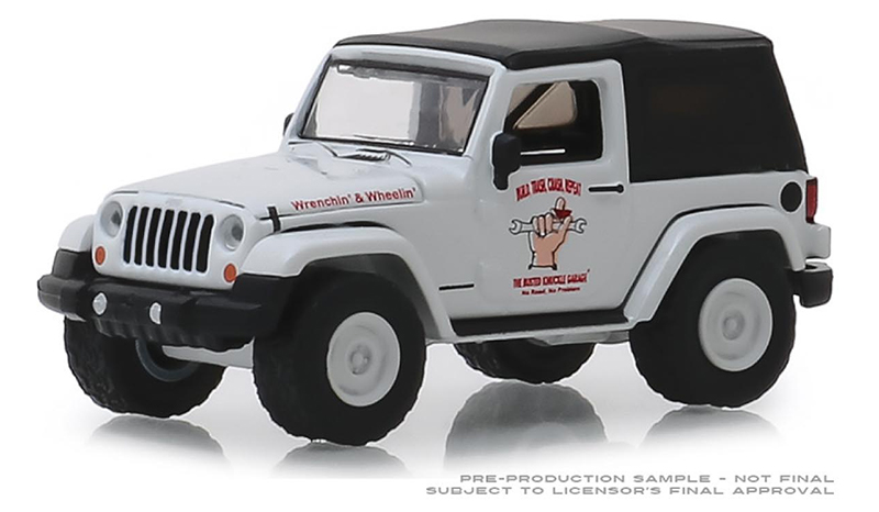 39010-E - Greenlight Diecast 2012 Jeep Wrangler Off Road Adventures Busted