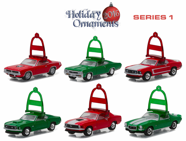 40010-CASE - Greenlight 2016 Holiday Ornaments Series 1 Six