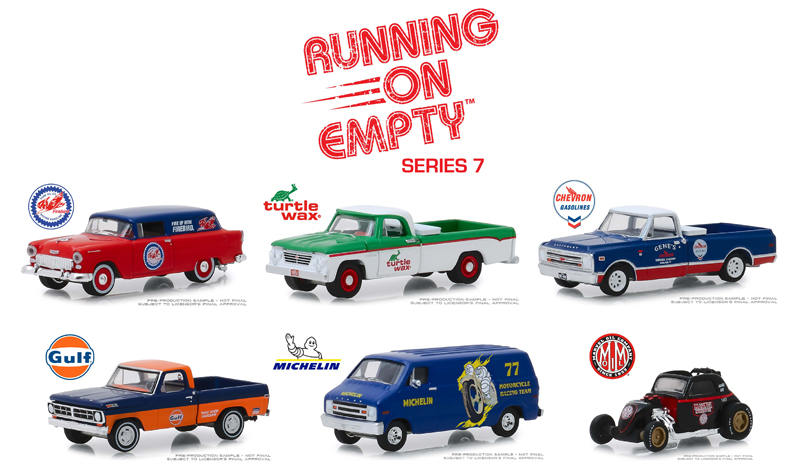 41070-CASE - Greenlight Diecast Running on Empty Series 7 Six Piece