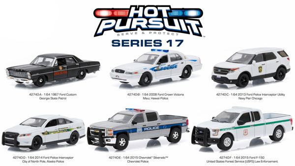 42740-CASE - Greenlight Hot Pursuit Series 17 Six Piece