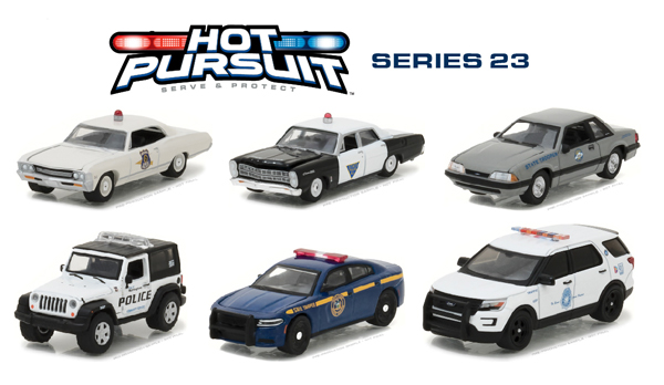 42800-CASE - Greenlight Hot Pursuit Series 23 Six Piece