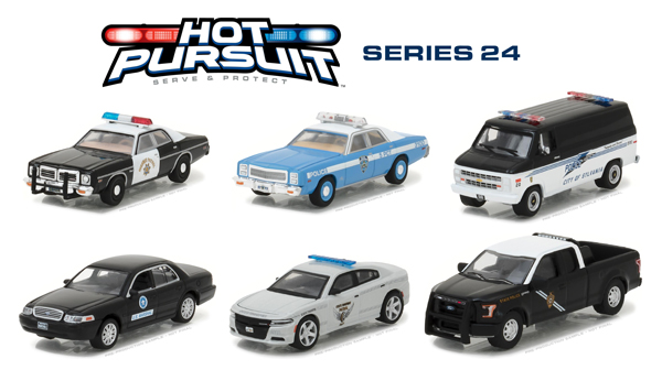 42810-CASE - Greenlight Hot Pursuit Series 24 Six Piece