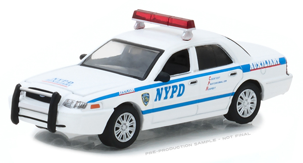 42822 - Greenlight Diecast NYPD Auxilliary 2011 Ford Crown Victoria