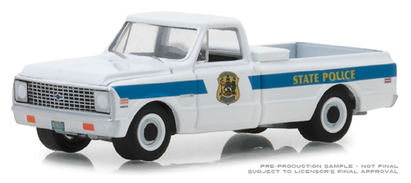 42860-A - Greenlight Diecast Delaware State Police 1972 Chevrolet C 10