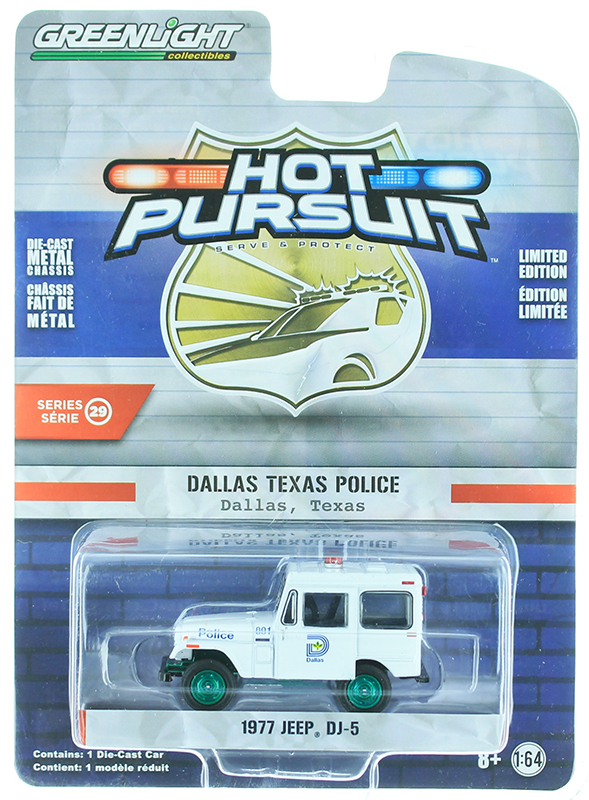 42860-B-SP - Greenlight Diecast Dallas Texas Police 1977 Jeep DJ 5
