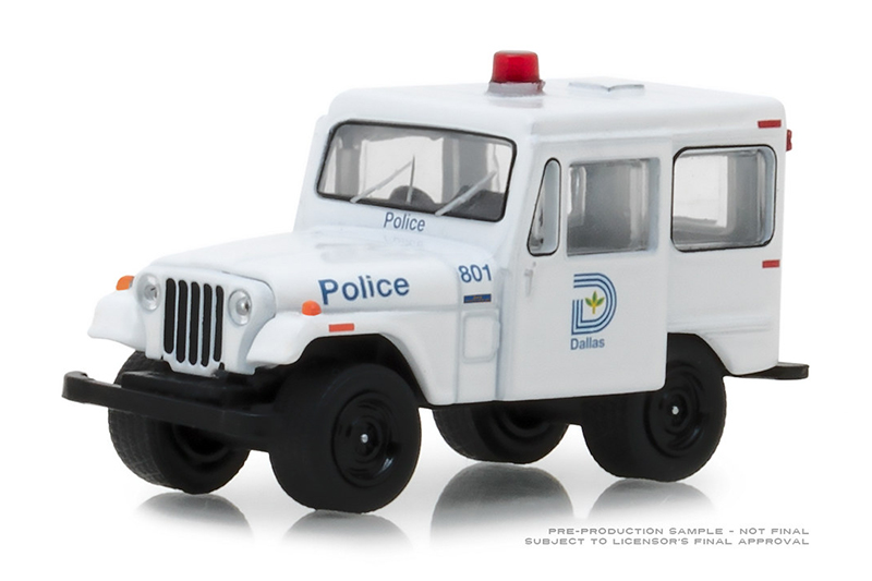 42860-B - Greenlight Diecast Dallas Texas Police 1977 Jeep DJ 5