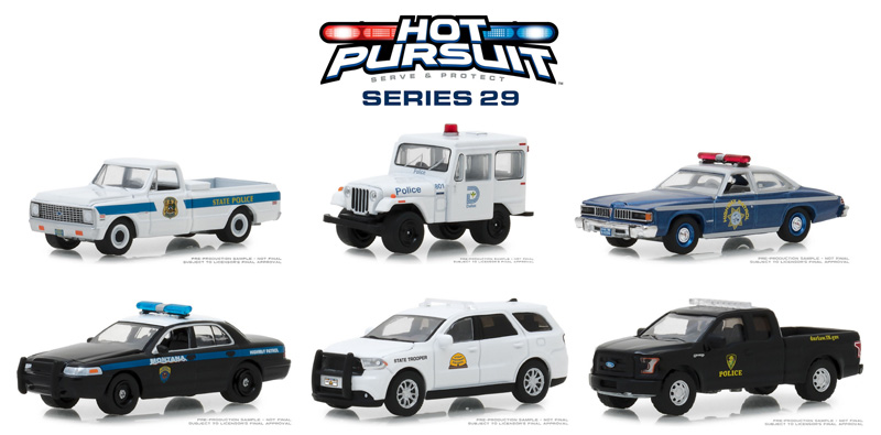 42860-CASE - Greenlight Diecast Hot Pursuit Series 29 6 Piece Case