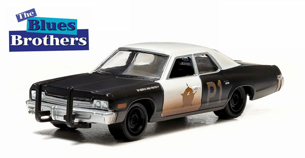 44710-C - Greenlight Jake and Elwoods Bluesmobile 1974 Dodge