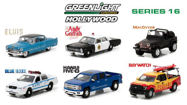 44760-CASE - Greenlight Hollywood Series 16 Six Piece SET