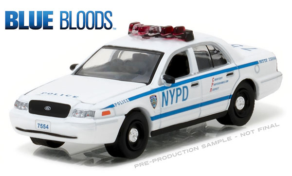44760-D - Greenlight NYPD 2001 Ford Crown Victoria Police
