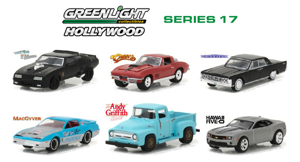 44770-CASE - Greenlight Diecast Hollywood Series 17 Six Piece SET