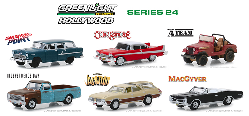 44840-CASE - Greenlight Diecast Hollywood Series 24