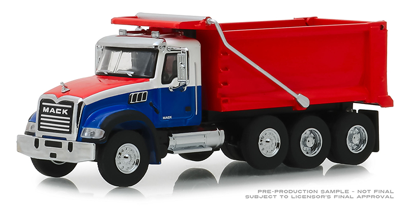 45060-B - Greenlight Diecast 2019 Mack Granite Dump Truck Super Duty
