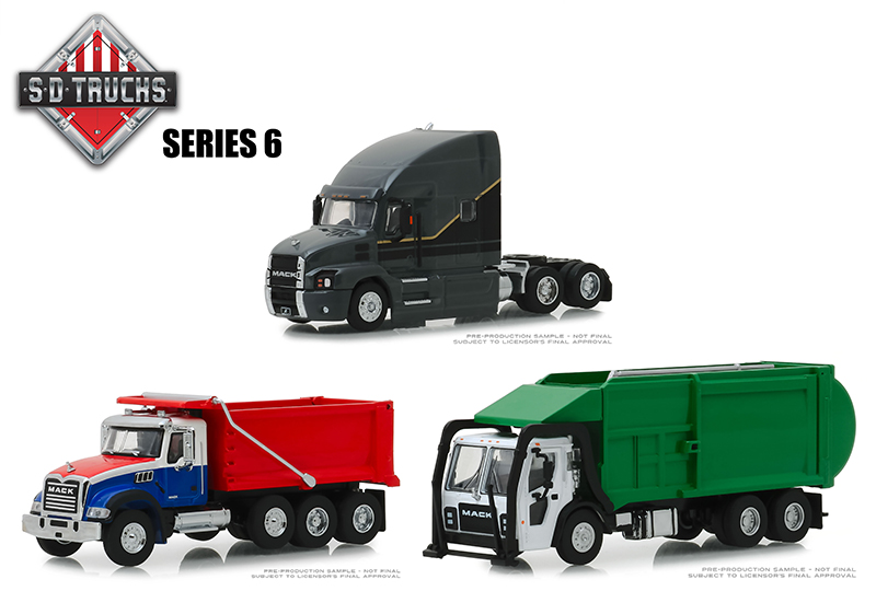 45060-CASE - Greenlight Diecast Super Duty Trucks Series 6 6 Piece