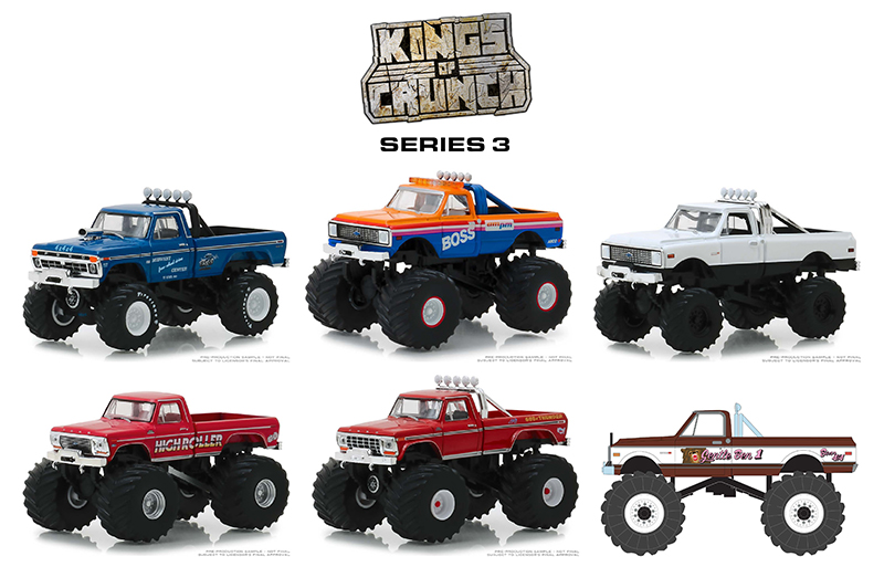 49030-CASE - Greenlight Diecast Kings of Crunch Series 3 6 Piece
