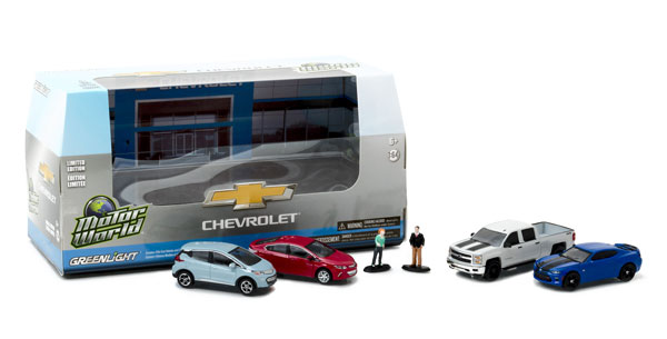 58034 - Greenlight Motor World Diorama Set Modern Chevrolet