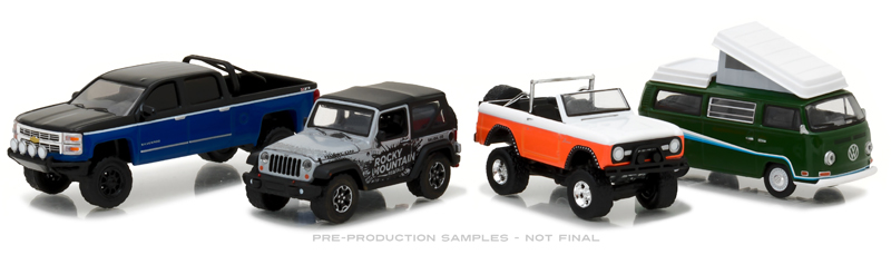 58038 - Greenlight Motor World Diorama Set Rocky Mountain