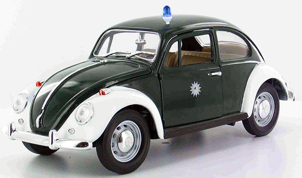 greenlight diecast 1960s volkswagen beetle police car. Black Bedroom Furniture Sets. Home Design Ideas