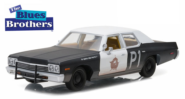 84011 - Greenlight Diecast Bluesmobile 1974 Dodge Monaco Blue Brothers 1980