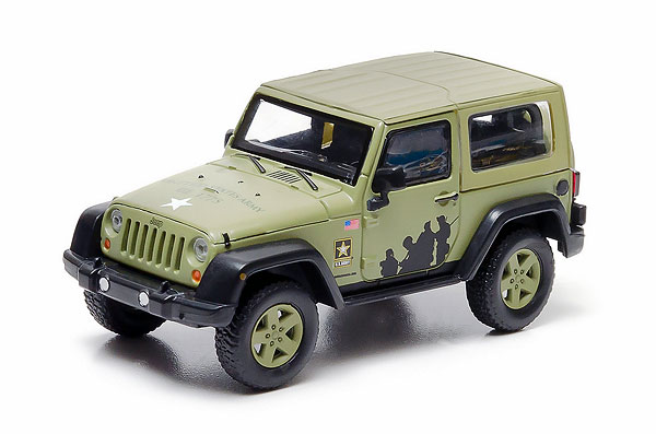 86042 - Greenlight US Army 2012 Jeep Wrangler Hard