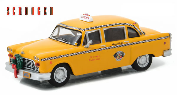 86075 - Greenlight Diecast 1978 Checker Taxicab Scrooged 1988 authentic movie