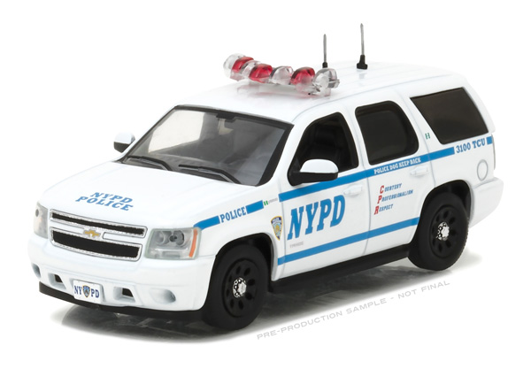 86082 - Greenlight NYPD 2012 Chevrolet Tahoe Police Pursuit
