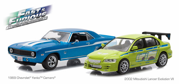 86253 - Greenlight 1969 Chevrolet Yenko Camaro and 2002
