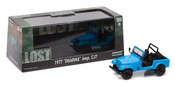 86309 - Greenlight Diecast Dharma 1977 CJ 7 Jeep LOST TV
