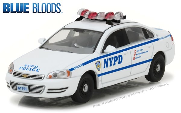 86509 - Greenlight NYPD Chevrolet Impala Police Cruiser Blue