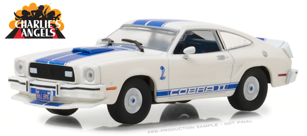 86516 - Greenlight Diecast 1976 Ford Mustang Cobra II Charlies Angels