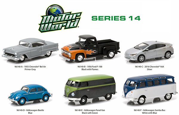 96140-CASE - Greenlight Motor World Series 14 6 Car