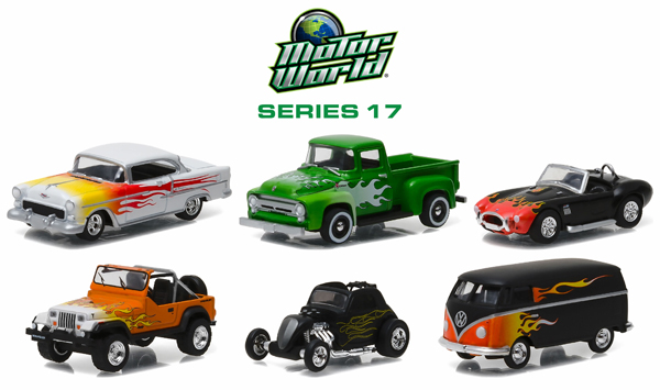 96170-CASE - Greenlight Motor World Series 17 6 Car