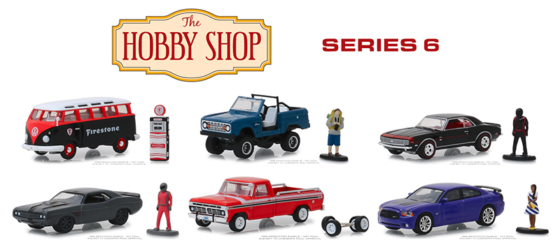 97060-CASE - Greenlight Diecast The Hobby Shop Series 6 6 Piece