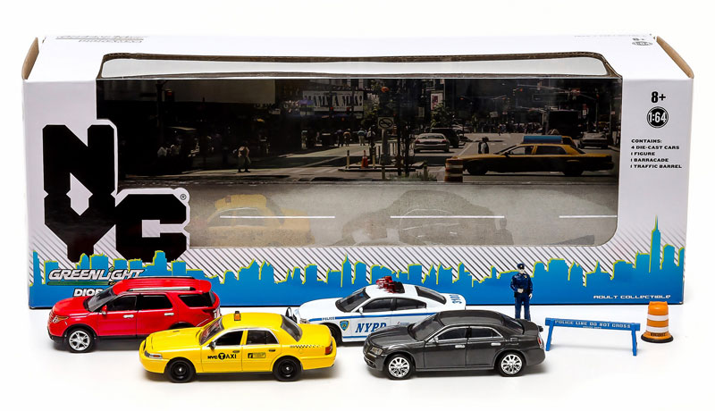 Greenlight diecast new york city traffic scene diorama set for Ford models nyc