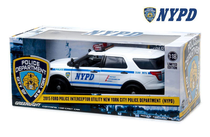 2016 Ford Explorer Limited >> Greenlight Diecast NYPD 2015 Ford Police Interceptor ...