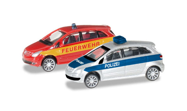 066549 - Herpa Police _ Fire Department Mercedes Benz