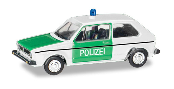 066655 - Herpa Polizei Volkswagen Golf 1 Police Car