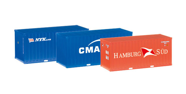 076432 - Herpa 20 Containers Set of 3 Hamburg