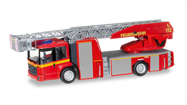 092777 - Herpa Model Fire Department Mercedes Benz Econic Metz Ladder