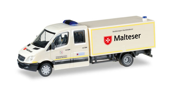 092951 - Herpa Malteser Mercedes Benz Sprinter Double Cab