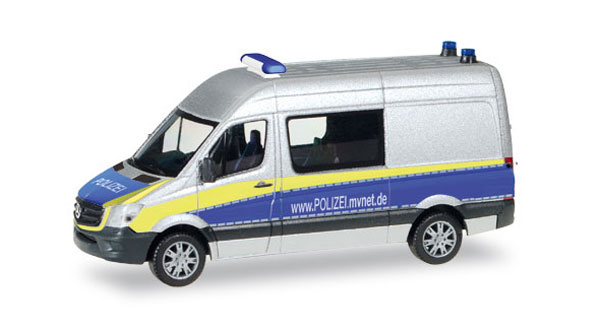 093088 - Herpa Police Mercedes Benz Sprinter Van All