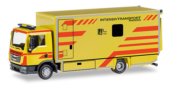 093347 - Herpa Emergency Services MAN TGL Box Truck