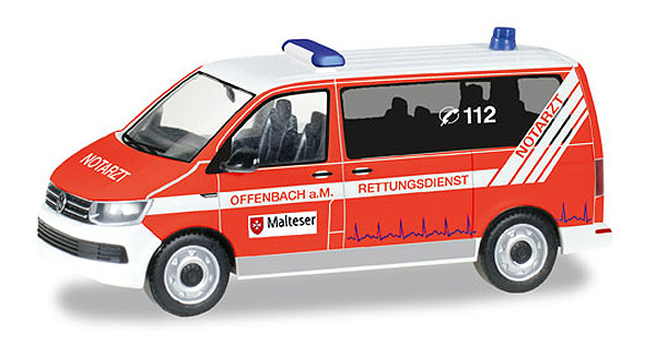 093415 - Herpa Model Malteser Offenbach Volkswagen T6 Emergency Van high