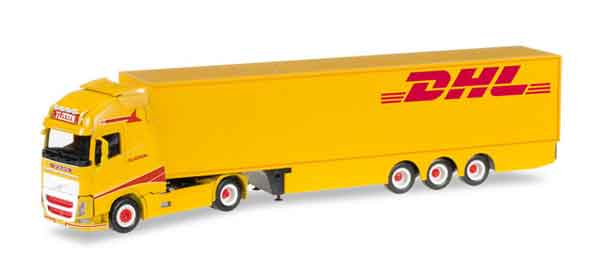 305402 - Herpa Model DHL Volvo FH 16 Reefer Semi Truck