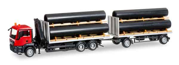 305549 - Herpa MAN Combi Truck and Trailer