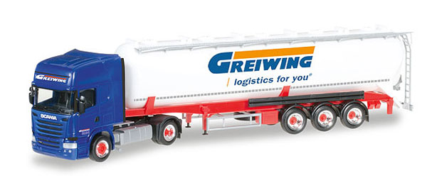 306195 - Herpa Greiwing Scania R Tractor