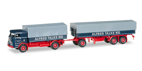 307192 - Herpa Model Alfred Talke Bussing Lu 16_11 Flatbed Truck