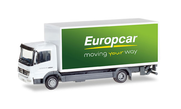 307567 - Herpa Europcar Mercedes Benz Atego Straight Box