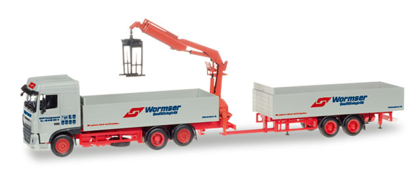307819 - Herpa Spedition Wormser DAF XF SC Flatbed